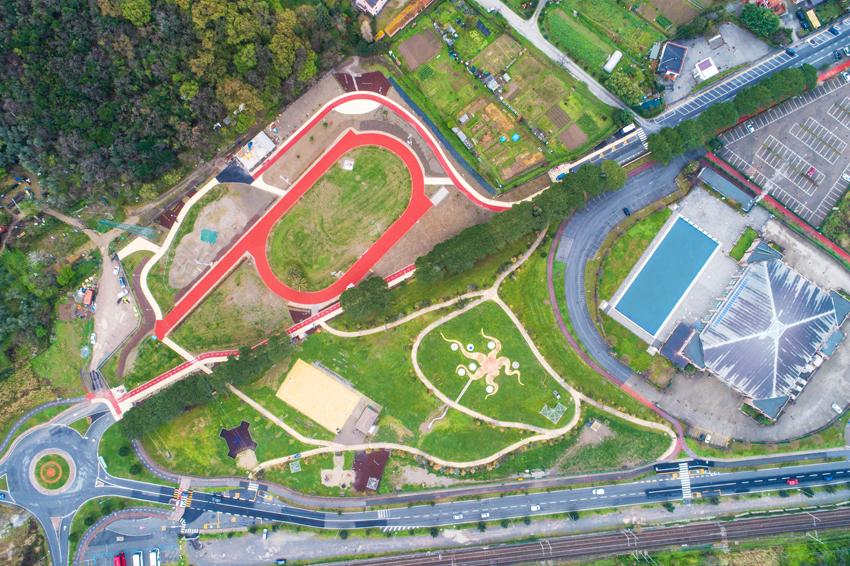 Vista zenitale del parco Nelson Mandela