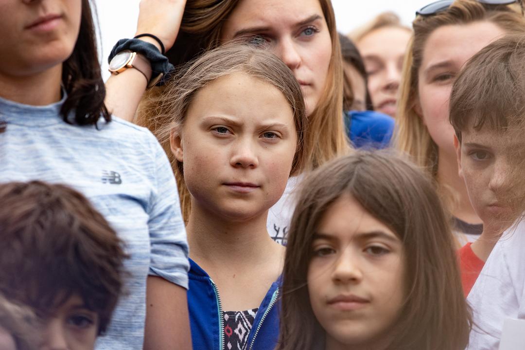 Greta Thunberg alla Casa Bianca il 13 settembre scorso (foto Aarion-Schwartz/ Shutterstock)