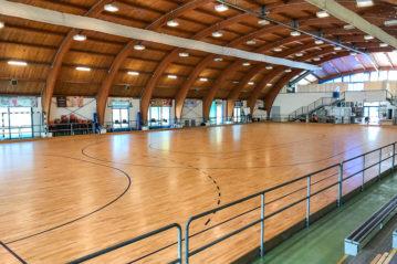 Il pattinodromo con la nuova pavimentazione sportiva