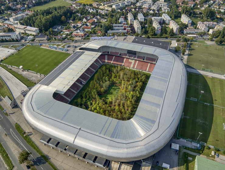 Il Wörthersee Stadium visto dall'alto (foto UNAIMO)