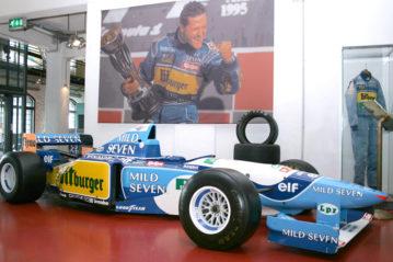 La F1 Benetton di Michael Schumacher