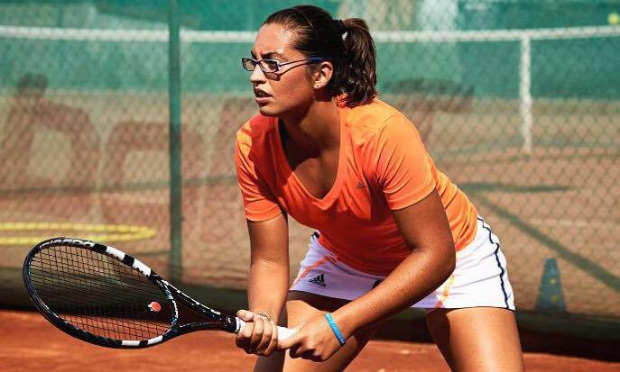 La tennista GIulia Porzio (foto Maximiliano Fagioli)