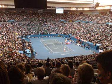 La Rod Laver Arena di Melbourne durante l'Australian open del 2008.