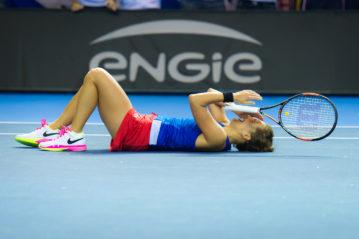 Strasburgo (Francia), Barbora Strycova alla finale della Fed Cup il 13 novembre 2016 (foto Jimmie48/Shutterstock)