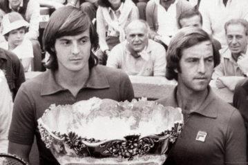 Panatta e Barazzutti con la Coppa Davis nel 1972