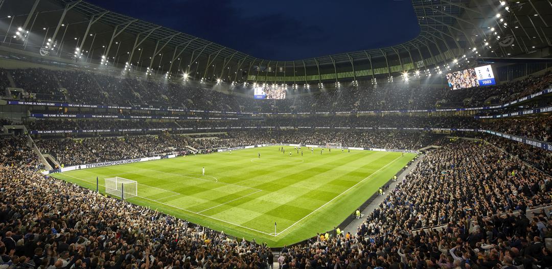 Interno dello stadio del Tottenham, Londra (Studio Populous; foto Hufton+Crow)