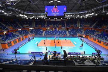 L'interno dell'Allianz Cloud di Milano allestito per il volley
