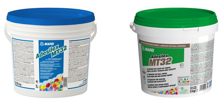 Il vecchio (a sinistra) e il nuovo packaging del prodotto Adesilex MT32