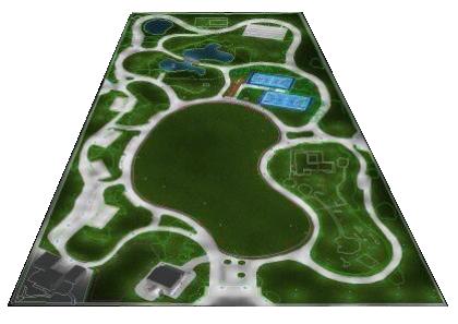 Modello della nuova sistemazione del Parco 2 giugno
