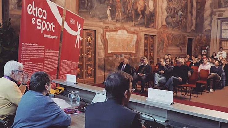 Il Salone d'onore al Castello del Valentino durante la cerimonia