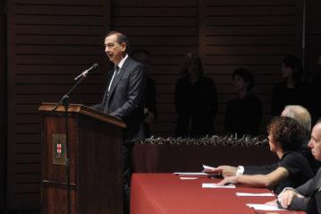 Cerimonia di conferimento delle Civiche Benemerenze 2019. Il Sindaco Giuseppe Sala.