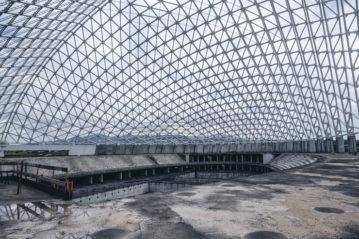 """L'interno della """"Vela"""" di Calatrava."""