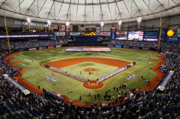 Il Tropicana Field, St. Petersburg, Florida, il 3 aprile 2016 (ph. Loren Elliott).