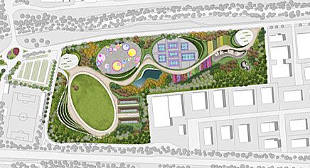 La proposta di parco attrezzato.
