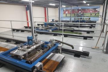 Una serie di macchine Lisport in laboratorio.