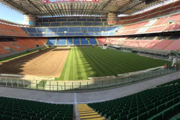 Lavori allo Stadio San Siro di Milano
