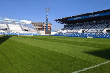 Mapei Stadium, manto ibrido a filo cucito (foto Filippo La Franca).