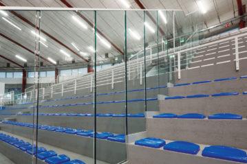 aluvtro parapetti e balaustre trasparenti per impianti sportivi