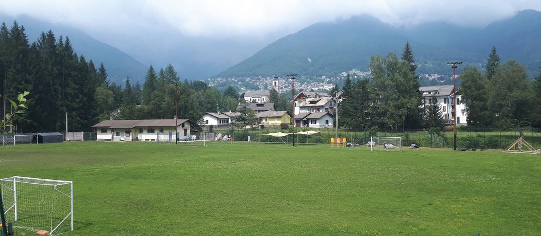Campo da calcio a Santa Maria Maggiore (VB).