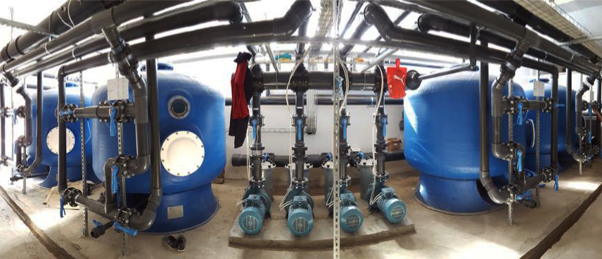 Impianto di filtrazione di un parco acquatico (foto Acquapark).