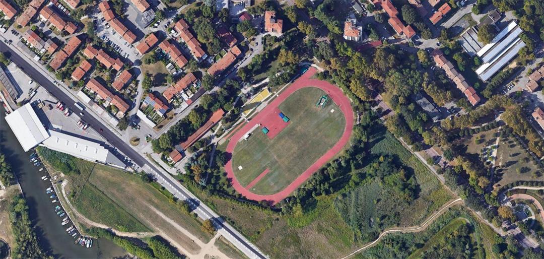Il centro sportivo di San Giuliano visto da Google Maps.