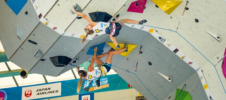 Gara di Duel ad Arco (Trento) per il trofeo Rockmaster 2018 (archivio FASI).