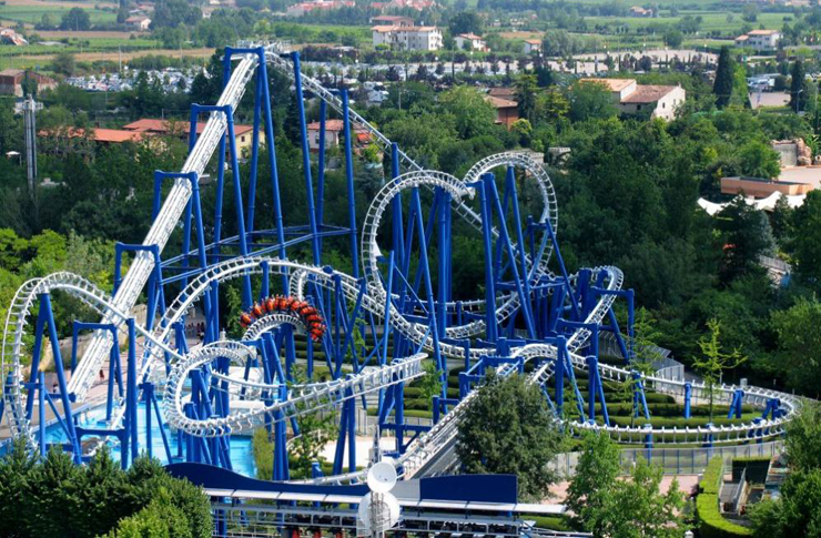 Il Blue Tornado di Gardaland.