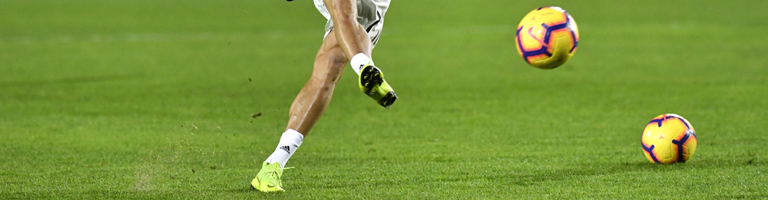 Cristiano Ronaldo sul campo dell'Atalanta a Bergamo (foto Paolo Bona/Shutterstock).