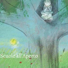 """L'icona di """"Scuole all'Aperto"""", disegno di Alain Cancilleri."""