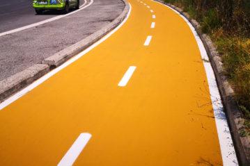 pista ciclabile in sede propria (foto www.cebic.it).