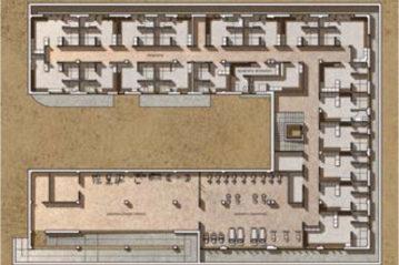 Edificio spogliatoi, piano seminterrato (da Spaziosport n.18/2011).