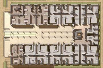 Edificio spogliatoi, piano terra (da Spaziosport n. 18/2011).