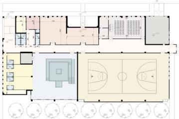 Edificio sportivo (ristrutturazione esistente).