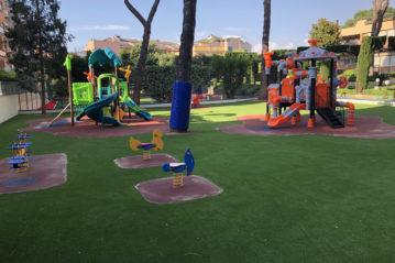 evolplay playground a roma presso un istituto