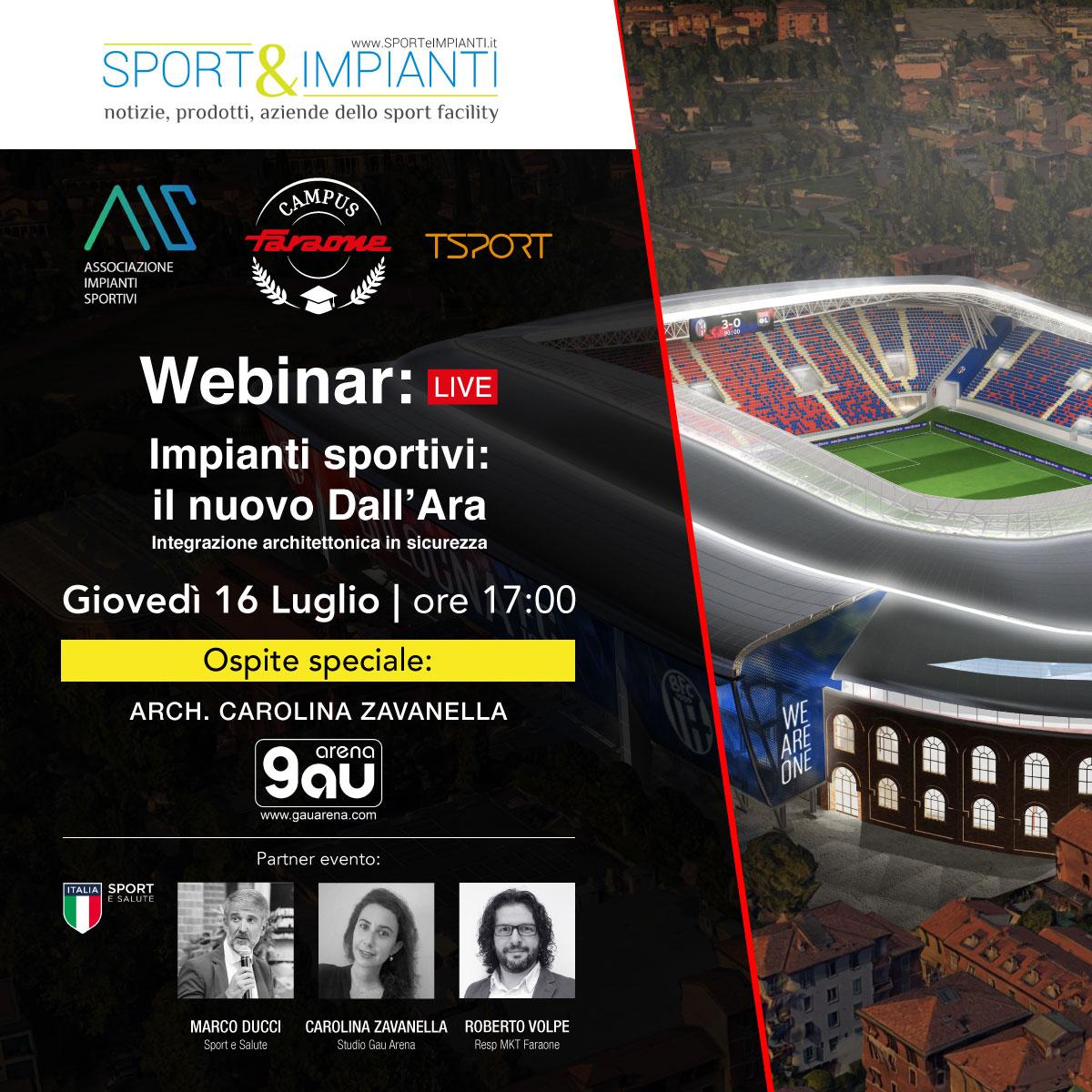 webinar il nuovo stadio dall'ara - faraone sporteimpianti AIS