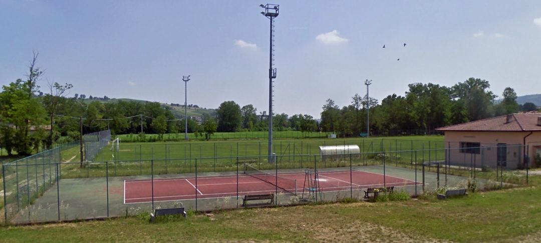 I campi sportivi prima dell'intervento.
