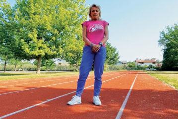 Giada Gallina, ex pluricampionessa nazionale, insegnante ed istruttrice,  sul campo