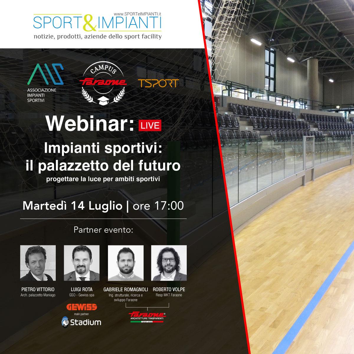 webinar il palazzetto del futuro - faraone sporteimpianti AIS