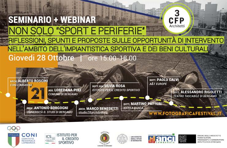 seminario e webinar organizzato da Coni Lombardia Non solo Sport e Periferie